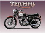 "10909 - Triumph Bike 6"" x 8"" Vintage Metal Steel Advertising Sign Plaque"